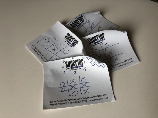 Tic Tac Toe Sticky Notes