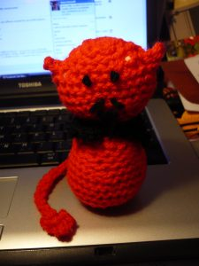 Crocheted Devil by Computer
